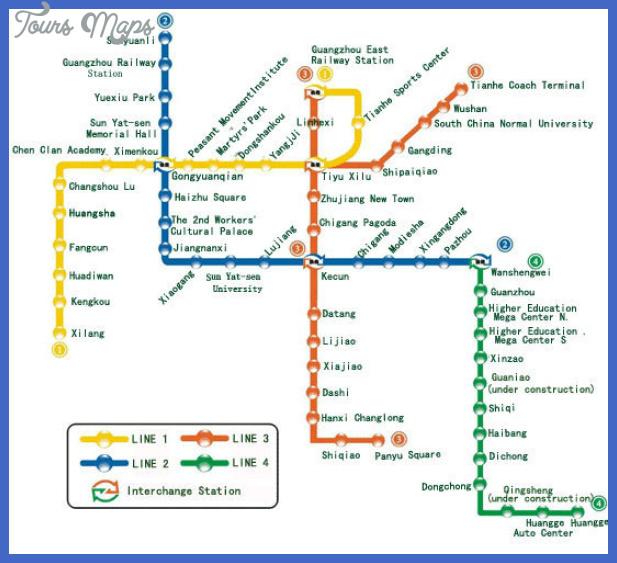 guangzhou metro map  9 Guangzhou Metro Map