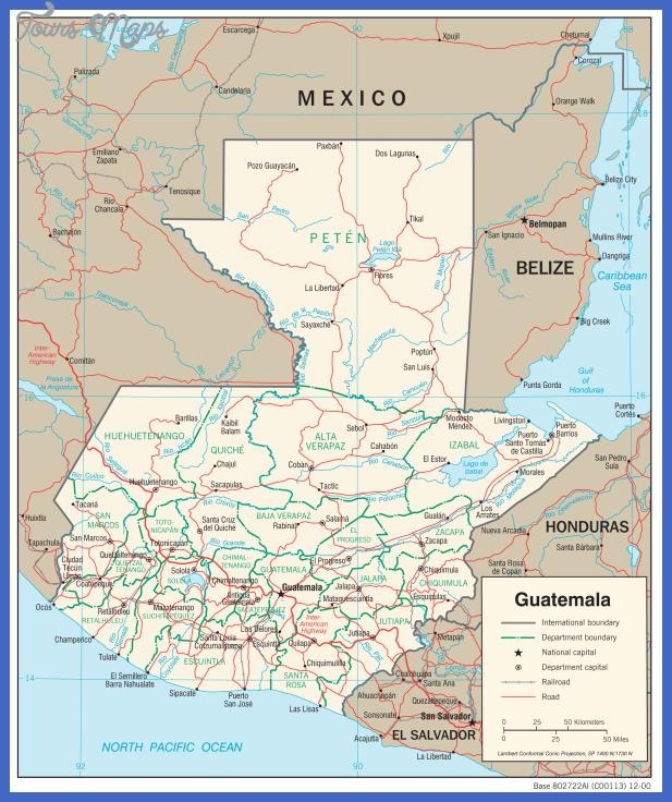 guatemala map  0 Guatemala Map