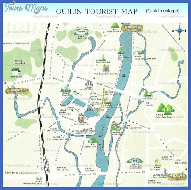 guilin attraction China Map Tourist Attractions
