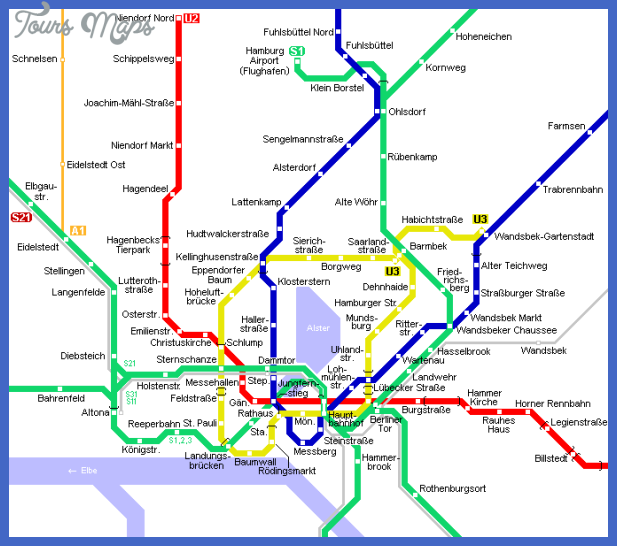 hamburg map metro 1 Hamburg Metro Map
