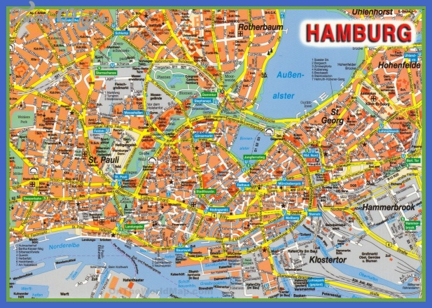 hamburg tourist attractions map Germany Map Tourist Attractions