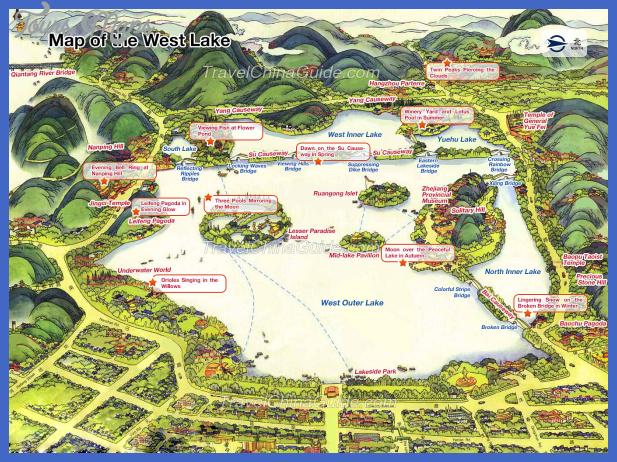 hangzhou map tourist attractions  11 Hangzhou Map Tourist Attractions
