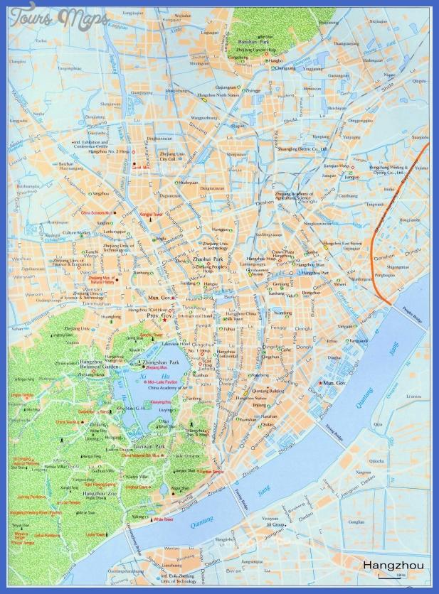 hangzhou map tourist attractions  9 Hangzhou Map Tourist Attractions