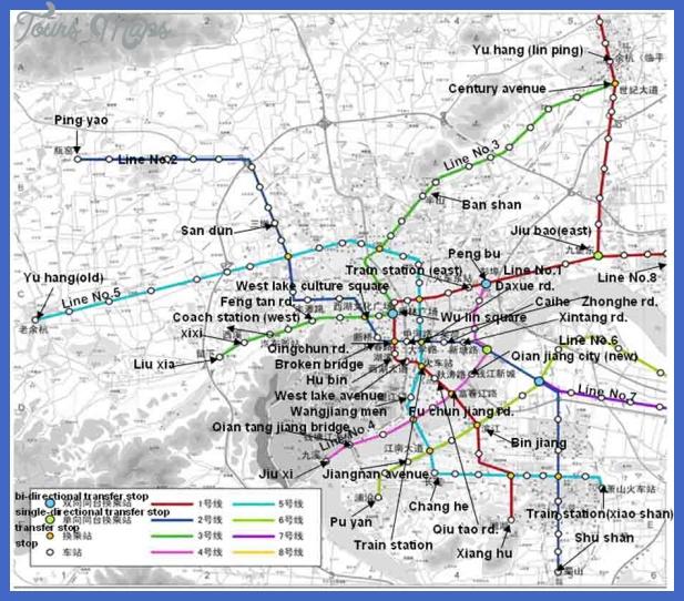 Hangzhou Metro Map ToursMapscom