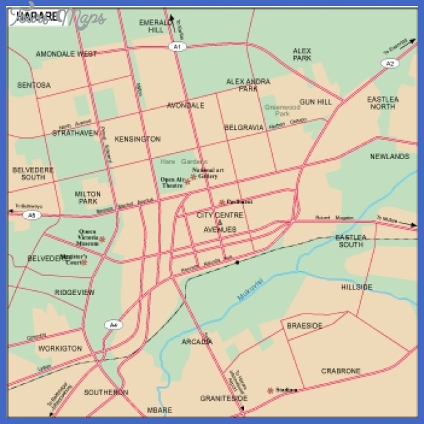 harare city Harare Metro Map