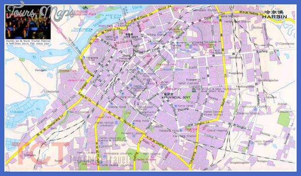 harbin map tourist attractions  2 Harbin Map Tourist Attractions