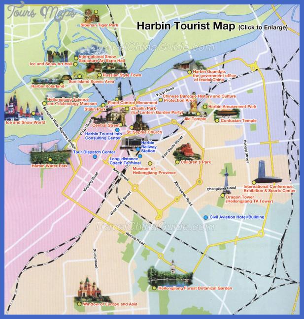 harbin map tourist attractions  6 Harbin Map Tourist Attractions