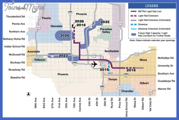 hct 57 mile system map Glendale Metro Map