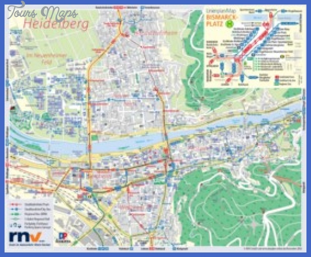 heidelberg tourist map min Essen Düsseldorf Map Tourist Attractions