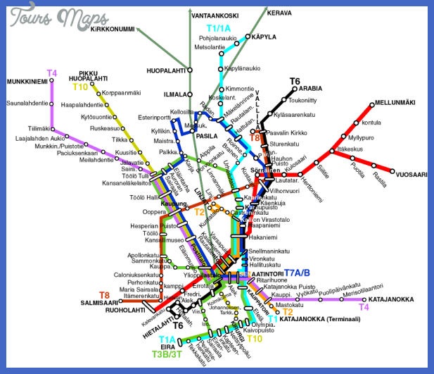 helsinki subway map 1 Tanzania Subway Map