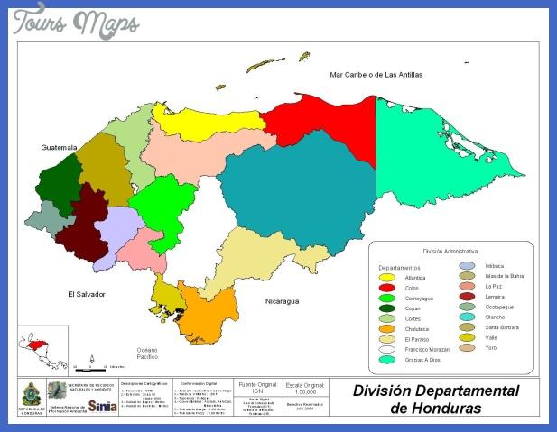 honduras departments division map 2 Honduras Metro Map