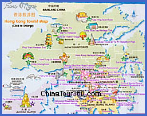 Hong Kong Map Tourist Attractions ToursMapscom