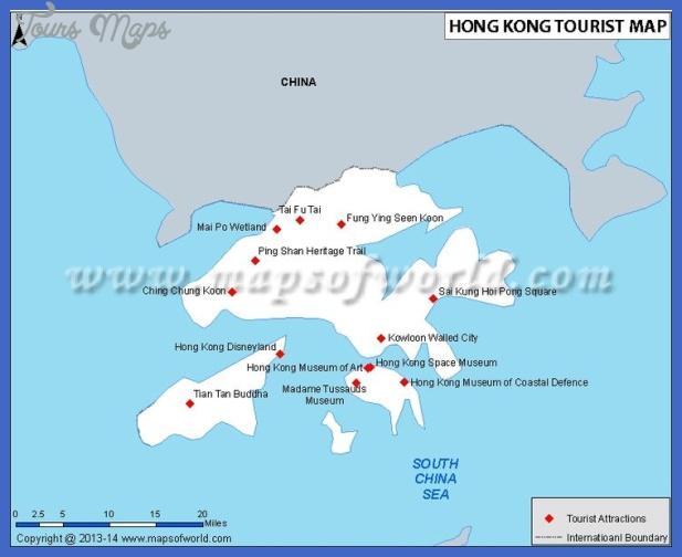 hong kong map tourist attractions  4 Hong Kong Map Tourist Attractions
