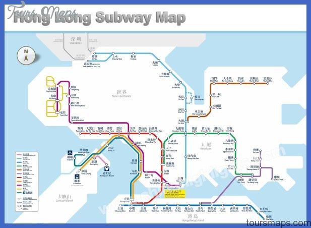 Hong Kong Metro Map Toursmaps Com