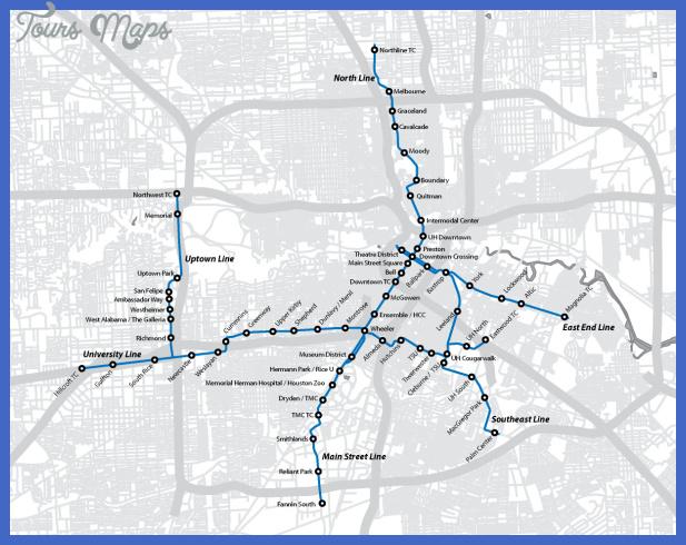 houston2012lrt Houston Metro Map