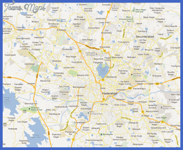 hyd urban main Hyderabad Map Tourist Attractions