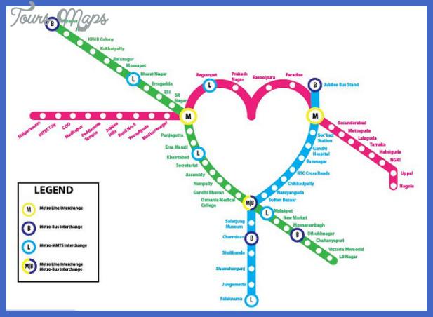 hyderabad metro map  6 Hyderabad Metro Map