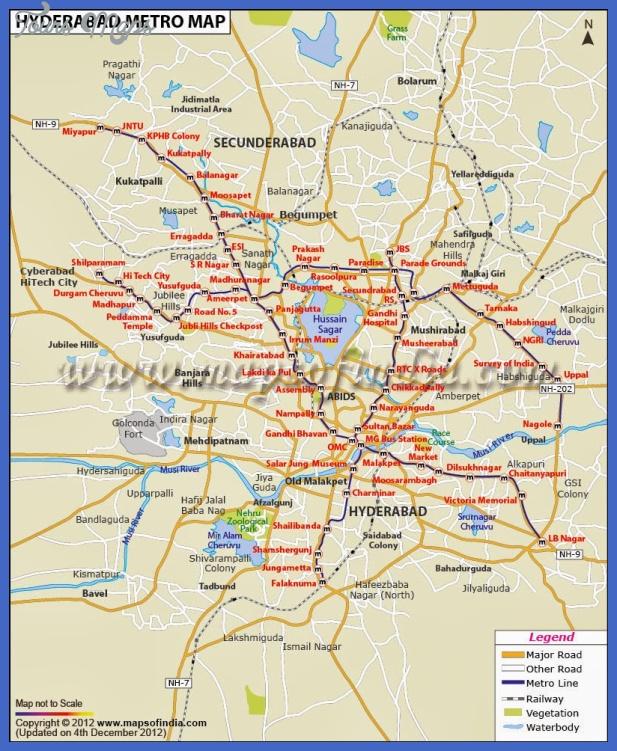 hyderabad metro map Hyderabad Map