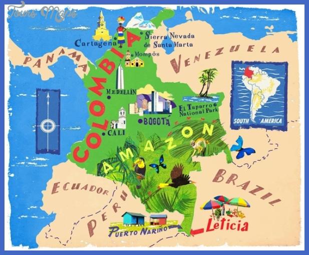 illustratedmapofcolombia Colombia Map