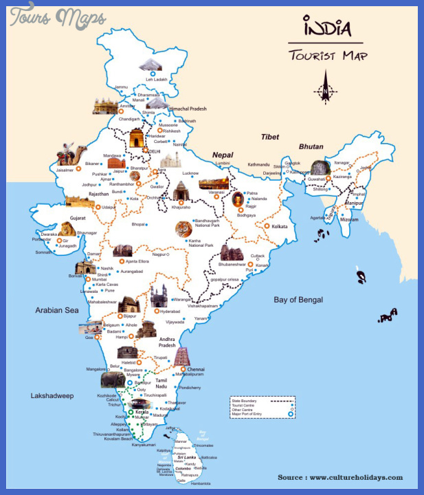 India Map Tourist Attractions ToursMapsCom – India Tourist Attractions Map