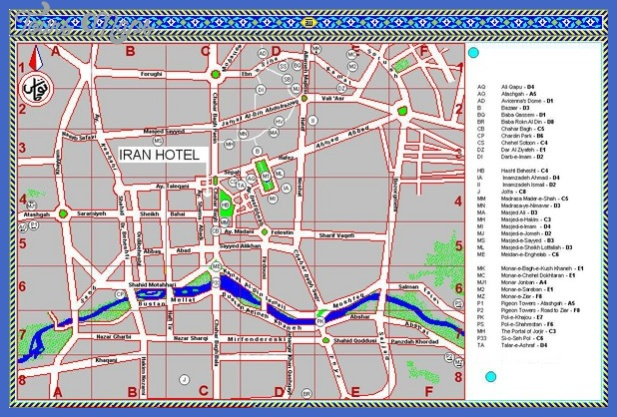 isfahan iran tourist map mediumthumb Iran Map Tourist Attractions