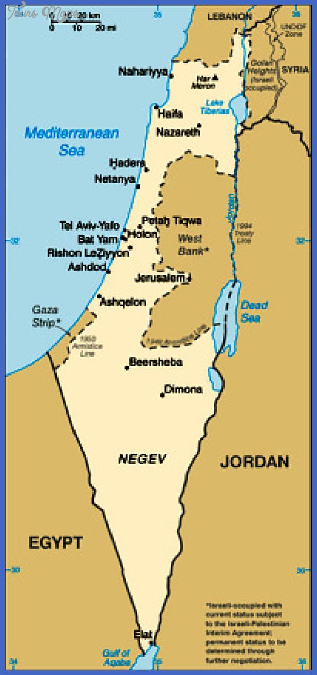 israel small map Tel Aviv Map Tourist Attractions