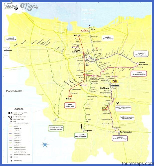 Jakarta Metro Map Toursmaps Com
