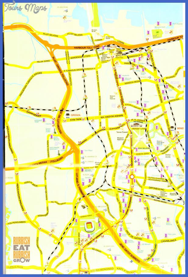 jakarta 0002 Jakarta Map Tourist Attractions