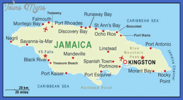 jamaica map Manchester Map Tourist Attractions