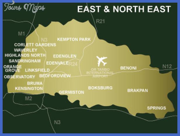johannesburgeast rand map  1 Johannesburg East Rand Map