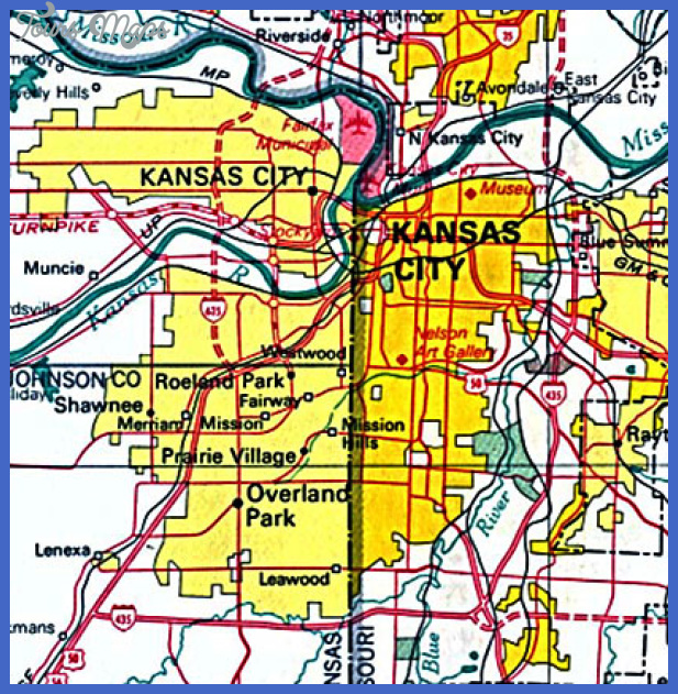 kansas city map Kansas City Map
