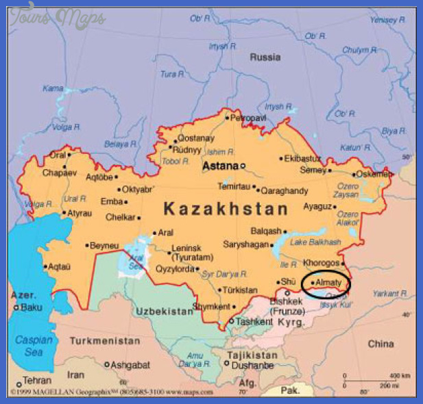 kazakhstan map3 Kazakhstan Map