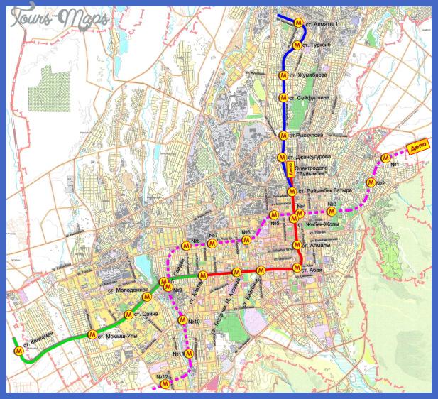 kazakhstan subway map  0 Kazakhstan Subway Map