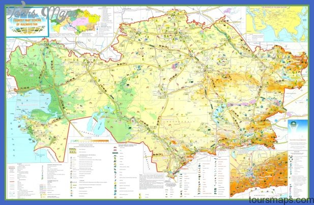 kazakhstan tourist map Kazakhstan Map Tourist Attractions