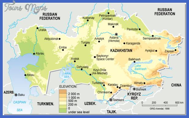 kazakhstan topographic map Kazakhstan Subway Map