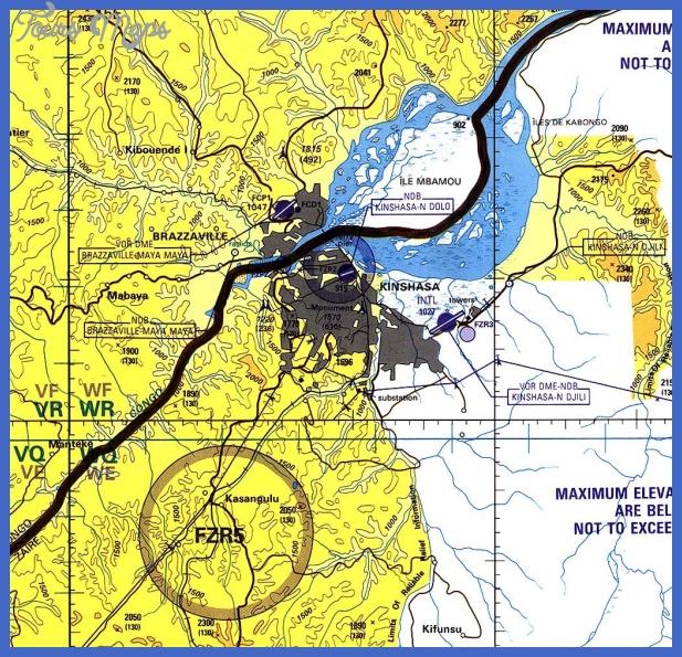kinshasa tpc 96 Kinshasa Map Tourist Attractions