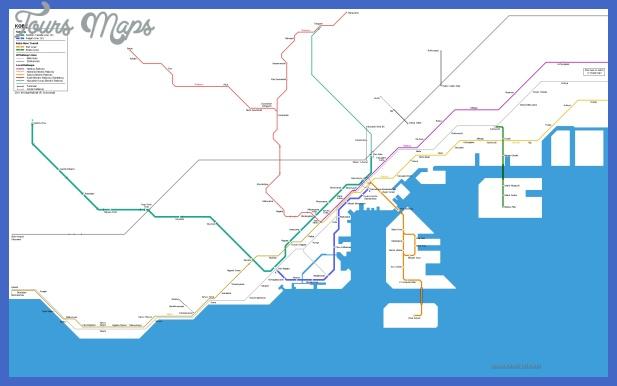 kobe metro haritasi 1 Ankara Subway Map