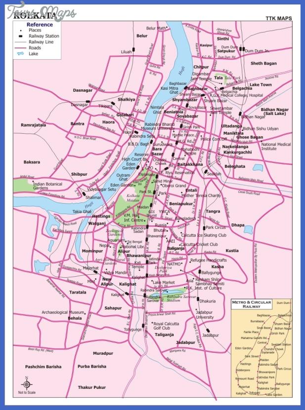 kolkata city map Kolkata Map