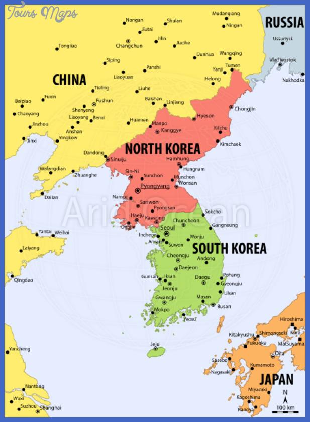 Korea North Map Map Travel Holiday Vacations - Korea map