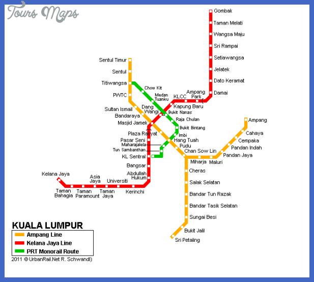 kuala lumpur metro map  6 Kuala Lumpur Metro Map