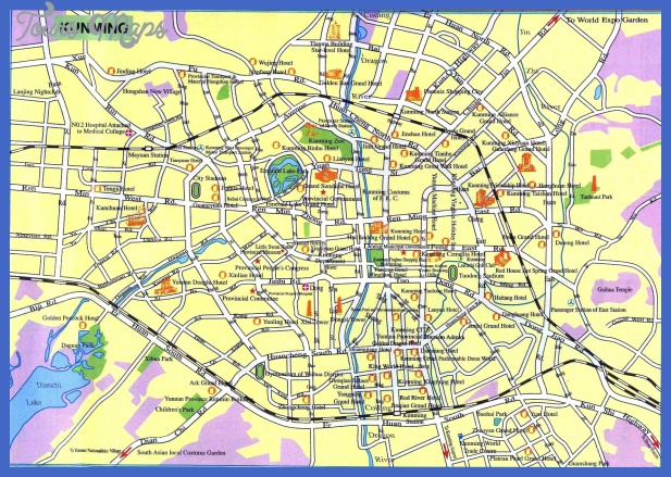 kunming map tourist attractions  0 Kunming Map Tourist Attractions