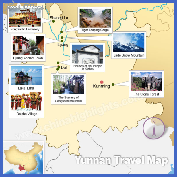 kunming map tourist attractions  14 Kunming Map Tourist Attractions