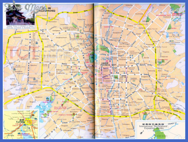kunming map tourist attractions  4 Kunming Map Tourist Attractions