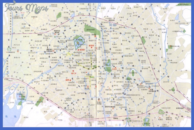 kunming map tourist attractions  8 Kunming Map Tourist Attractions