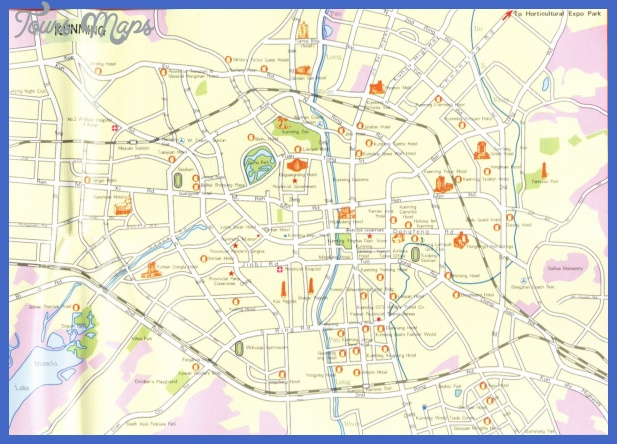 kunming map tourist attractions  9 Kunming Map Tourist Attractions