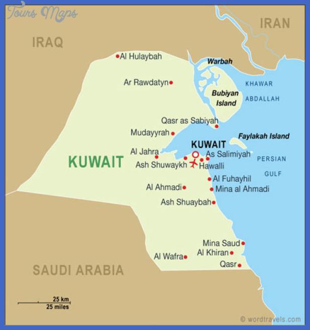 Kuwait Map Toursmaps Com