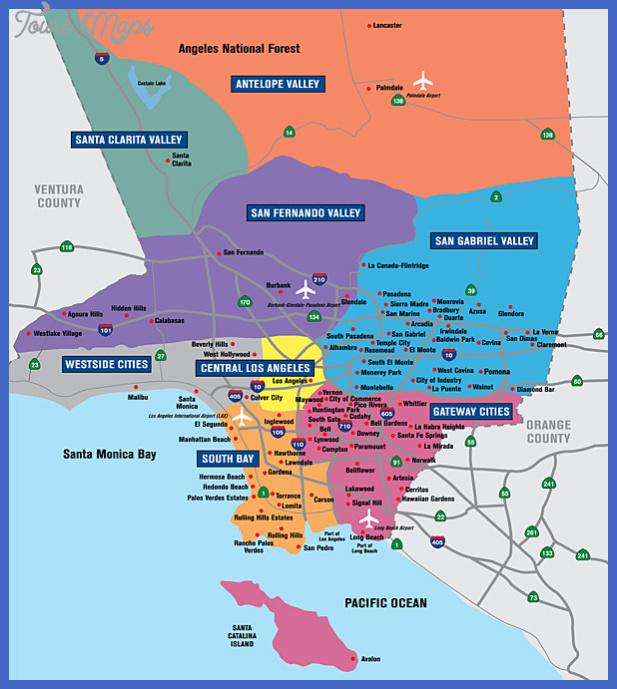 la county map Los Angeles Map