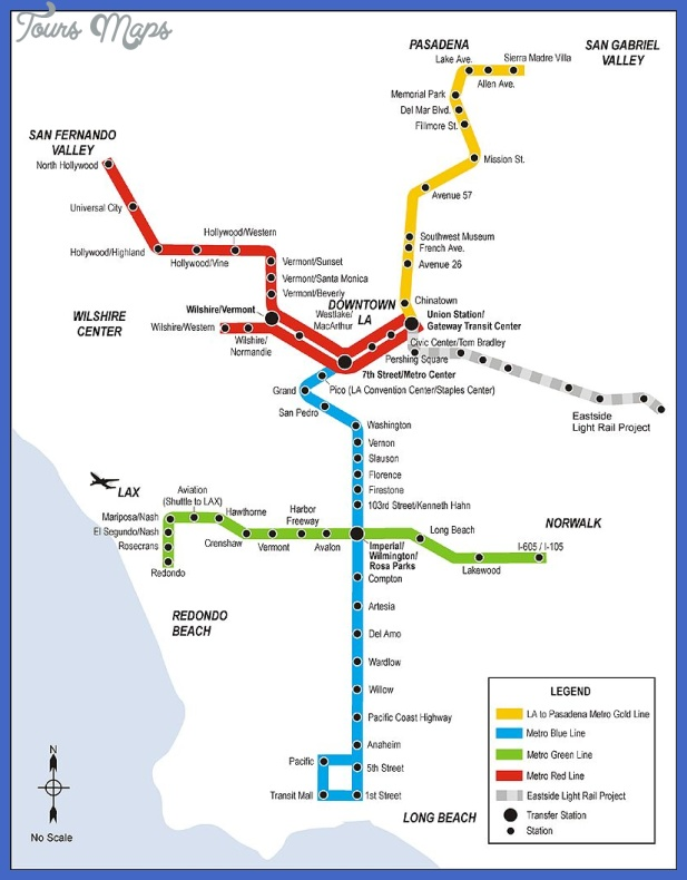 la rail map blca Glendale Metro Map