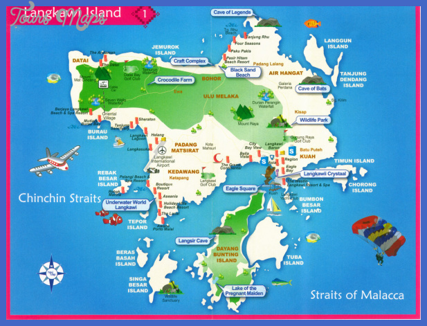 langkawi island travel map Malaysia Map Tourist Attractions