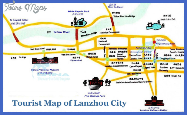 lanzhou map tourist attractions  0 Lanzhou Map Tourist Attractions